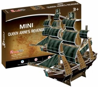 Трехмерная модель Месть королевы Анны мини, CubicFun S3031h