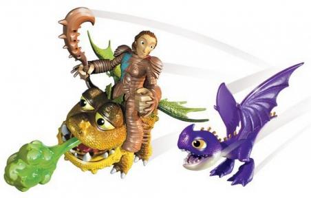 Викинг Валка с малышами Змеевиком и Громмелем - набор, Как приручить дракона, Spin Master, Валка с малышами Змеевиком и Громмеле SM66594-9