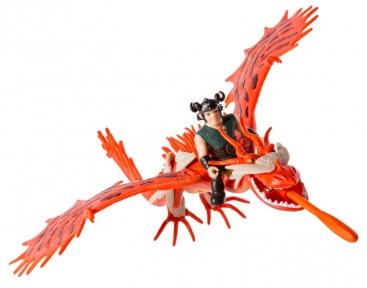 Дракон Кривоклык в броне с всадником Сморкалой, Spin Master, Hookfang SM66607-1