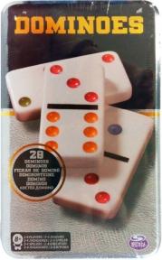Настольная игра Домино цветное (в жестяной коробке), Spin Master SM98405/6033156