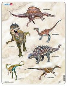 Пазл LARSEN Динозавры, серия Макси