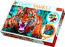 Пазл Один на один с тигром 600 эл серия Crazy Shapes