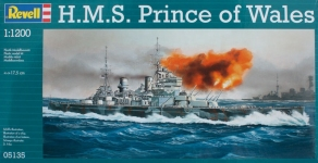 Линкор H.M.S Prince of Wales; 1:1200, Revell 05135