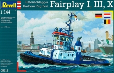 Портовый буксир Harbour Tug Boat Fairplay I,III,X (2007/2009 гг. Германия), 1:144, Revell 05213