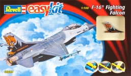 Самолет (1976г., США) F-16 Fighting Falcon, 1:100 - easykit, Revell 06644