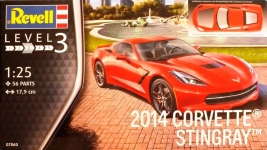 Автомобиль Corvette Stingray C7 2014г, 1:25, Revell 07060