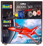 Model Set Самолет BAe Hawk T.1 Red Arrows; 1:72, Revell 64921